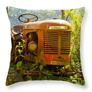 Massey Ferguson Tractor Throw Pillow by Nomad Art And  Design