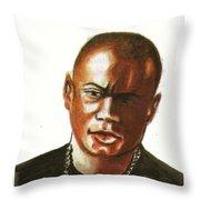 Maurice Greene Throw Pillow by Emmanuel Baliyanga