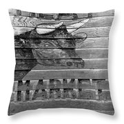 Meat Market, 1938 Throw Pillow by Granger
