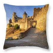 Medieval Carcassonne Throw Pillow by Brian Jannsen