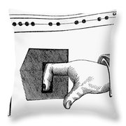 MEDIEVAL FINGER PILLORY Throw Pillow by Granger