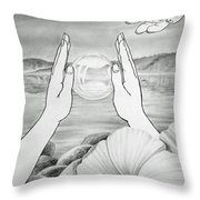 Meditation  Throw Pillow by Irina Sztukowski