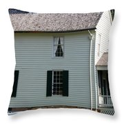 Meeks Store Appomattox Court House Virginia Throw Pillow by Teresa Mucha