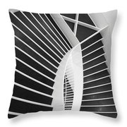 Meet Me Under The Stairs Throw Pillow by Anna Villarreal Garbis