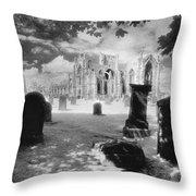 Melrose Abbey Throw Pillow by Simon Marsden