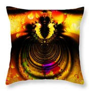 Melting Pot . Gold . Square . S8a.S11 Throw Pillow by Wingsdomain Art and Photography