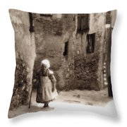 Memories From Motherland Throw Pillow by Michele Mule
