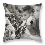 Memories Of A Special Christmas Throw Pillow by Christine Till