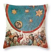 Men & Their Guiding Stars Throw Pillow by Science Source