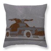 Mercedes Benz 300 Throw Pillow by Naxart Studio