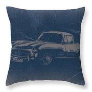 Mercedes Benz 300 Sl Throw Pillow by Naxart Studio