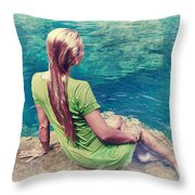 Mermaid Throw Pillow by MotHaiBaPhoto Prints