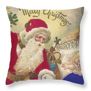 Merry Christmas Throw Pillow by American School