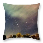 Meteor Perseid Meteor Shower Throw Pillow by Thomas R Fletcher