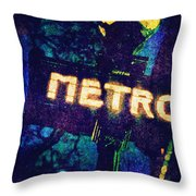 Metro Throw Pillow by Skip Nall