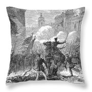 Mexican War: Monterrey Throw Pillow by Granger