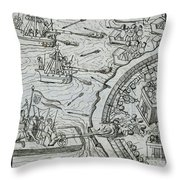 Mexico - Spanish Conquest Throw Pillow by Granger