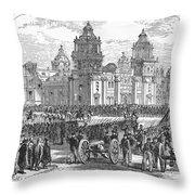 Mexico City, 1847 Throw Pillow by Granger