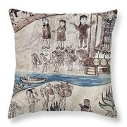 Mexico Indians C1500 Throw Pillow by Granger