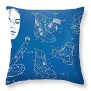 Michael Jackson Anti-Gravity Shoe Patent Artwork Throw Pillow by Nikki Marie Smith
