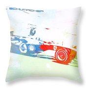 Michael Schumacher Throw Pillow by Naxart Studio