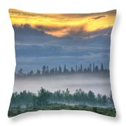 Mid Summer Night's  Fog Throw Pillow by Heiko Koehrer-Wagner