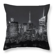 Mid-town Manhattan Twilight II Throw Pillow by Clarence Holmes