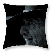 Midnight Cowboy Throw Pillow by Christine Till