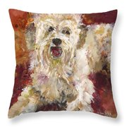 Mini Doodle Impression Throw Pillow by Karen Ahuja