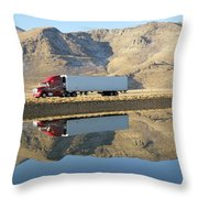 Mirror Image Throw Pillow by Feva  Fotos