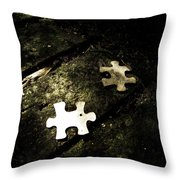 Missing Pieces Throw Pillow by Jessica Brawley