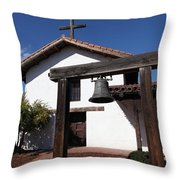 Mission Francisco Solano - Downtown Sonoma California - 5D19301 Throw Pillow by Wingsdomain Art and Photography