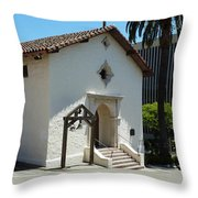 Mission San Rafael Arcangel Chapel Throw Pillow by Methune Hively