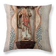 Mission San Xavier Del Bac - Interior Sculpture Throw Pillow by Suzanne Gaff