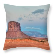 Mitchell Butte in Monument Valley Throw Pillow by Clarence Holmes