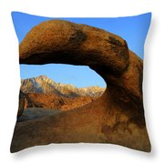 Mobius Arch California Throw Pillow by Bob Christopher