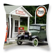 Model A Ford Throw Pillow by Ted Kinsman