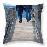 Moments With Dad Throw Pillow by Karol  Livote