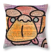 Monkey Business Throw Pillow by Jera Sky
