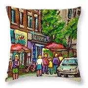 Monkland Tavern Throw Pillow by Carole Spandau