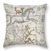 Monoceros Throw Pillow by A Jamieson