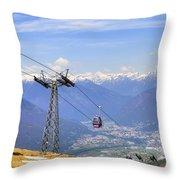 Monte Tamaro - Switzerland Throw Pillow by Joana Kruse