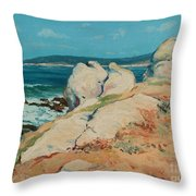 Monterey Coast Throw Pillow by Guy Rose