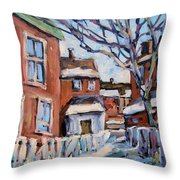 Montreal Scene 03 By Prankearts Throw Pillow by Richard T Pranke