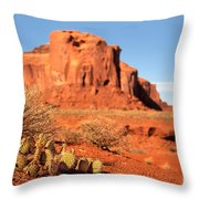Monument Valley Cactus Throw Pillow by Jane Rix