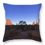 Monument Valley Throw Pillow by Mike Herdering