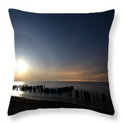 Moonrise at the Beach Throw Pillow by Cale Best