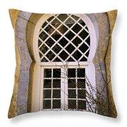 Moorish Window Throw Pillow by Carlos Caetano