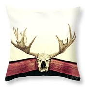 moose trophy Throw Pillow by Priska Wettstein