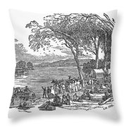 MORMON FLIGHT, 1833 Throw Pillow by Granger